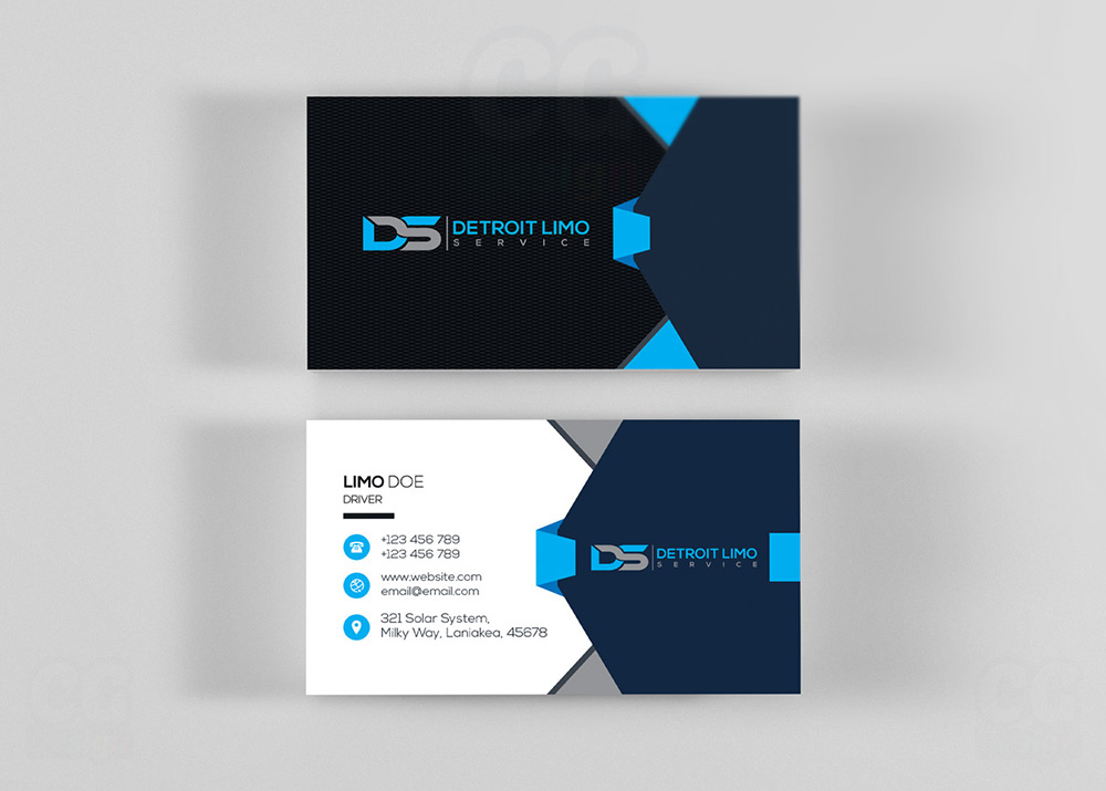 Limo business card design cg design business card design graphic design colourmoves Images