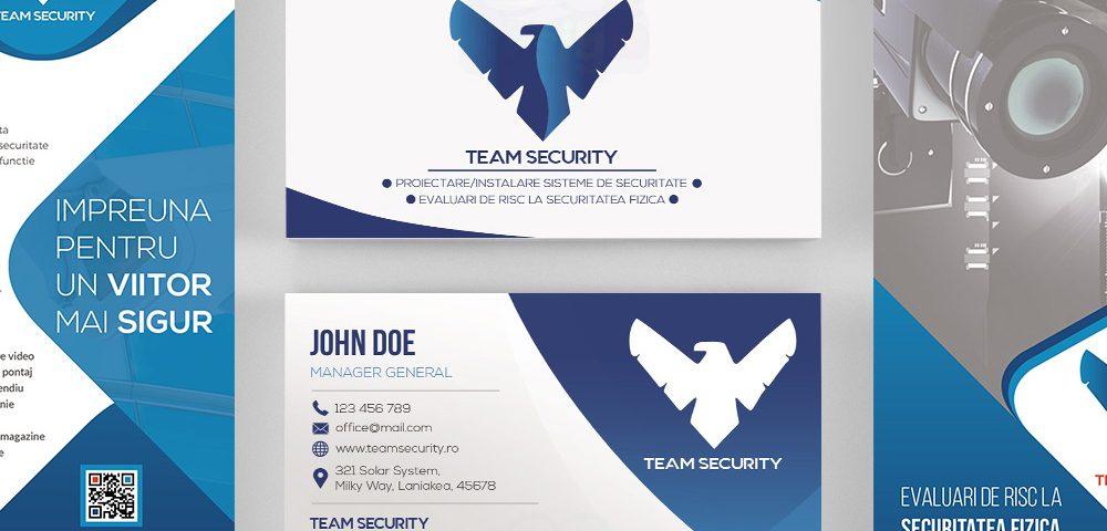 Team security business cards flyer design cg design colourmoves